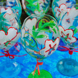 Leilani Hand Painted Wine Glasses