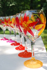 Load image into Gallery viewer, Cavalier Flower Hand-painted Wine Glasses