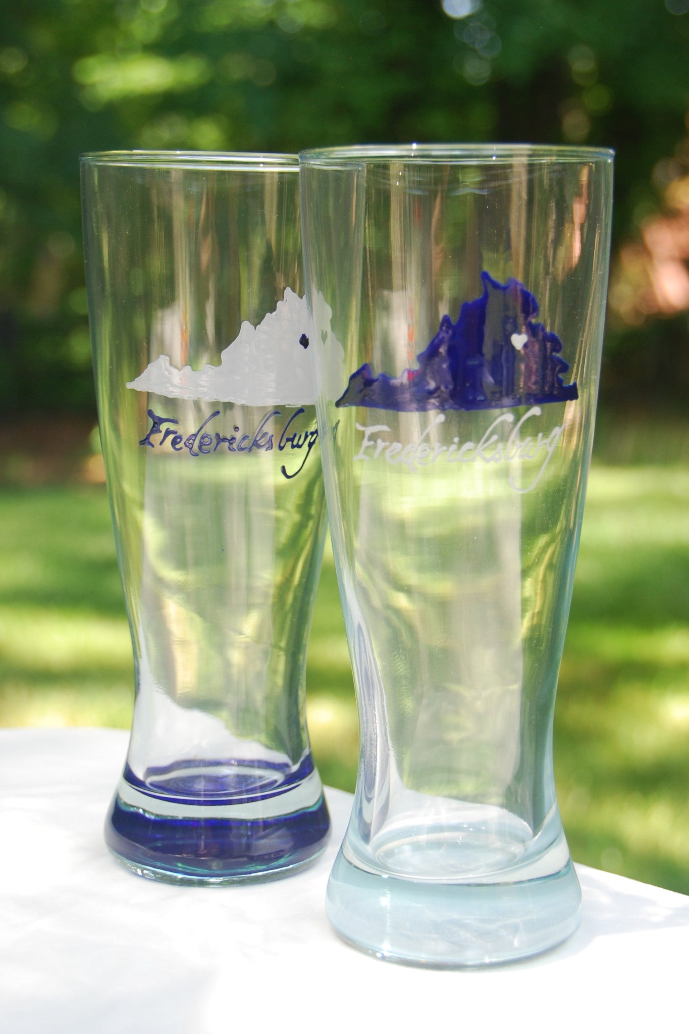 Hand-painted College / University Spirit Glass