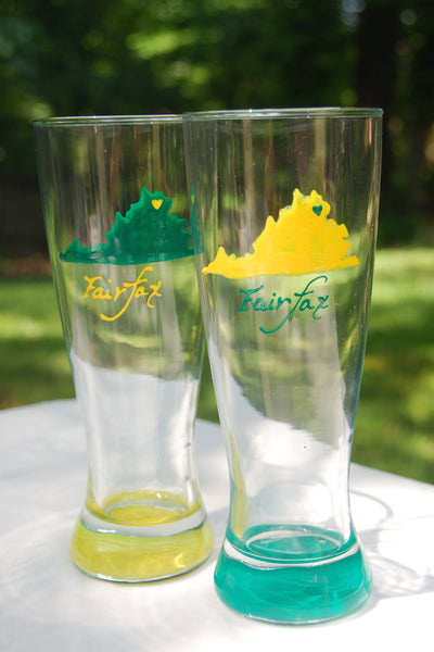 Home is where the heart is - Hand Painted College Spirit Pilsner Glass