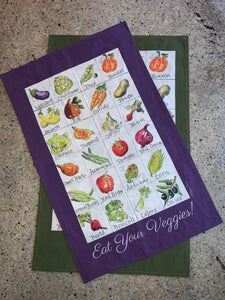 Eat your Veggies Tea Towel