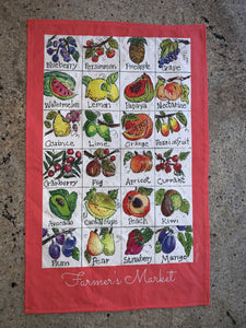 Farmer's Market Tea Towel