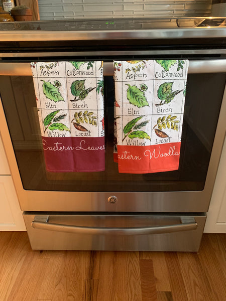 Eastern Leaves Tea Towel