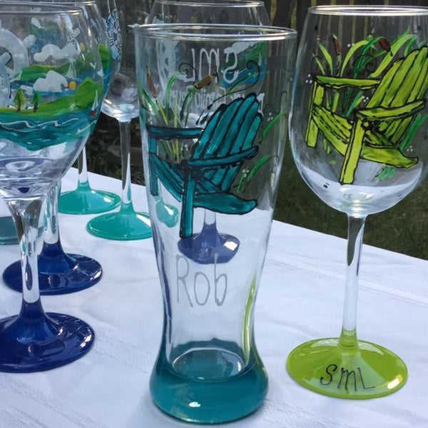 Custom Design - Hand Painted Glassware
