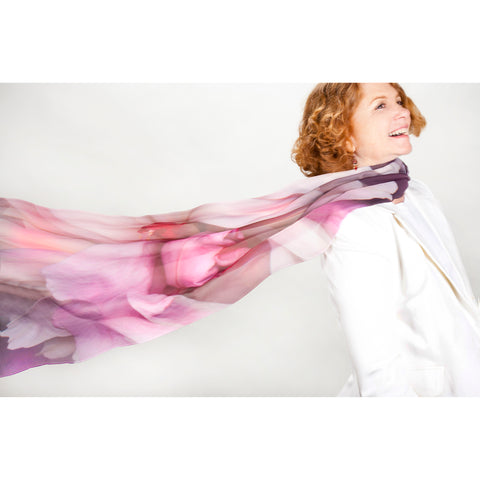 Peony Poly Georgette Scarf