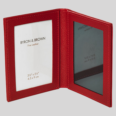 Premium Leather Travel Picture Frame
