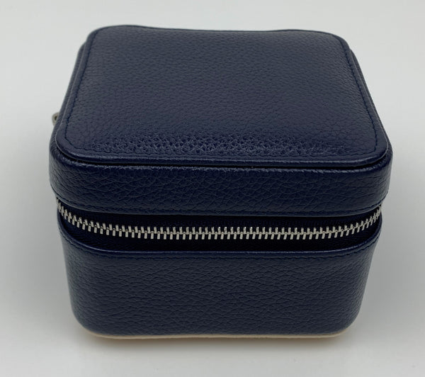 SQUARE Leather Travel Jewellery Case