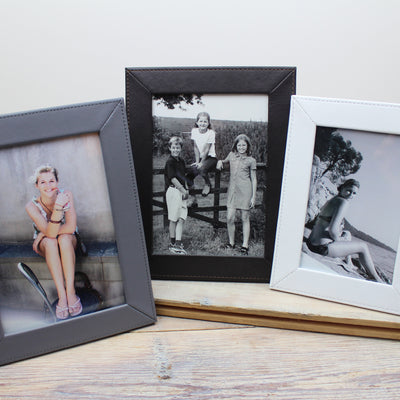 Slim Classic Leather Picture Frames