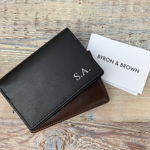 Leather Folding Business Card Case