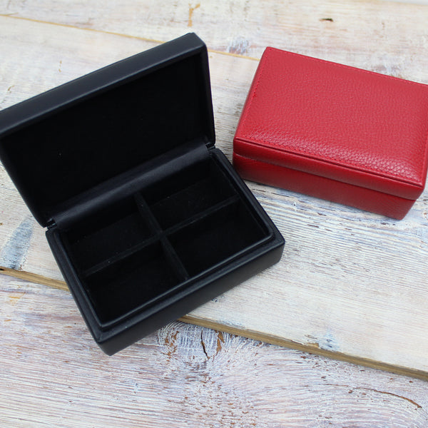 Leather Cuff Link Box