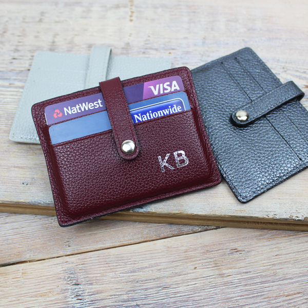 Leather Folding Card Case