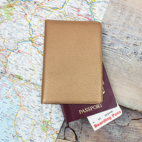 Gold Slim Travel Wallet