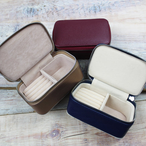 Leather Travel Jewellery Case