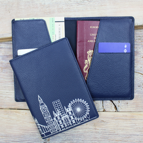 London Skyline Slim Travel Wallet