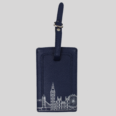 London Skyline Slim Travel Wallet and Luggage Tag Set