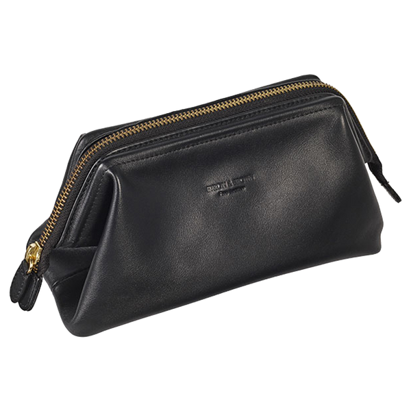 Leather Medium Travel Wash Bag