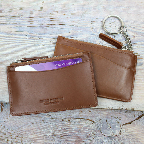 Leather Card & Keys Purse