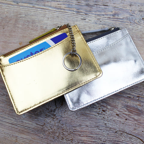 Metallic Card and Key Purse