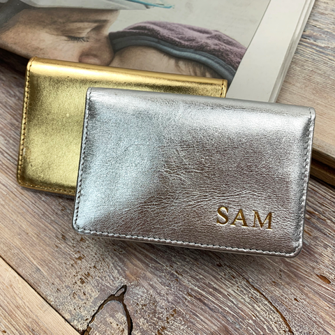 Metallic Travel Card Holder