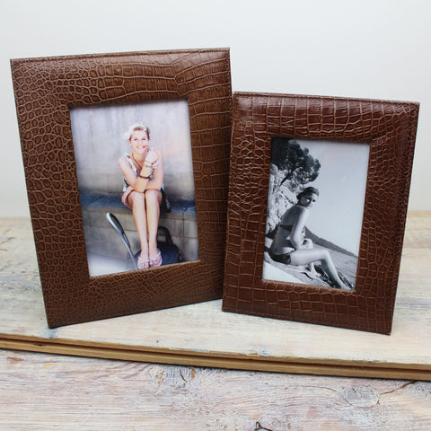 Vintage Moc Croc Photo Frames
