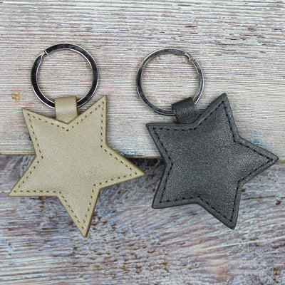 Pearlised Star Keyring