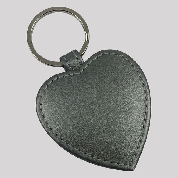 Pearlised Heart Keyring