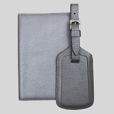 Slim Travel Wallet and Luggage Tag Set