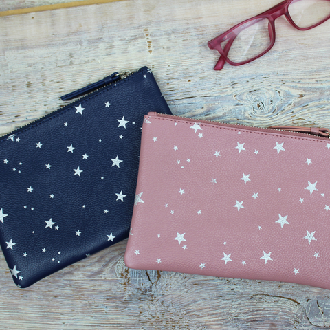 Star Print Basic Pouch