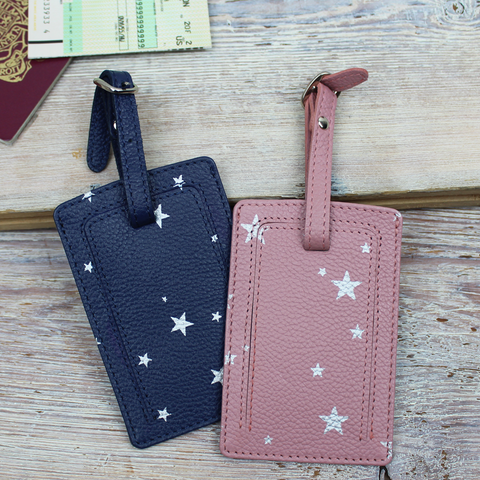 Star Print Luggage Tag