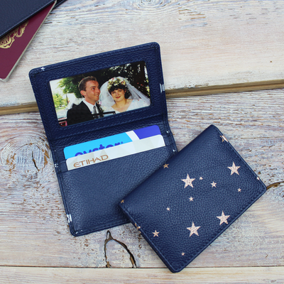 Star Print Travel Card Holder