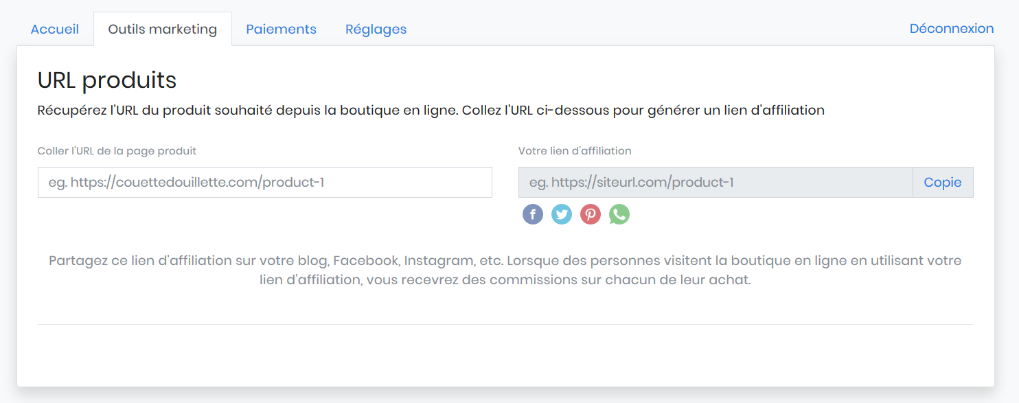 Outils marketing couettedouillette