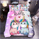 Housse de couette Licorne you and me - couettedouillette