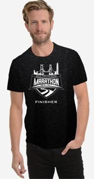 Men's SS Tech Tee - Black 'Finisher Design' - SF Marathon