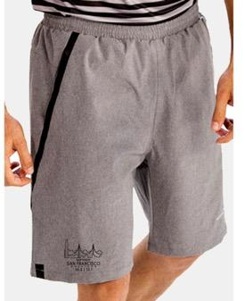 Men's Training Shorts - Light Grey 'Span Design' - SF Marathon