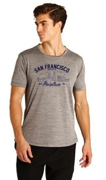 Men's SS Triblend Tech Tee - Light Grey 'Arch Design' - SF Marathon