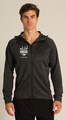 Men's Tech Zip Hoody - Black 'Finisher Design' - SF Marathon