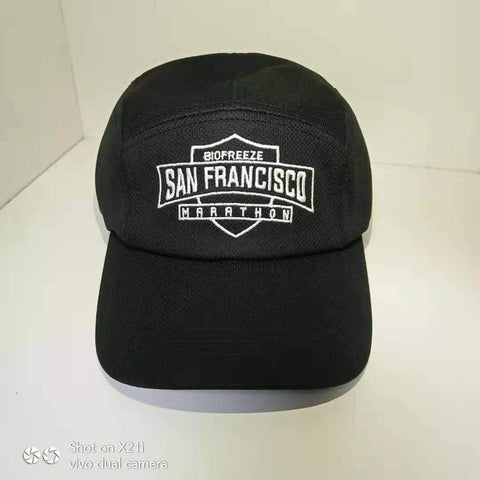 Race Cap - Black 'Shield Design' - SF Marathon