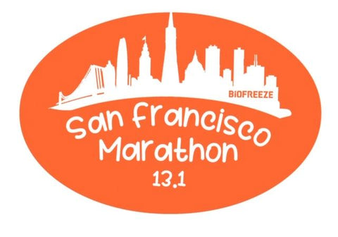 Magnet - Orange 13.1 'Skyline Design' - SF Marathon