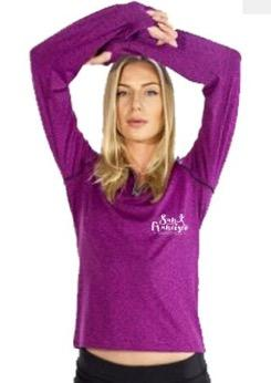 Women's Stretch 1/4 Zip - Magenta 'Script Design' - SF Marathon