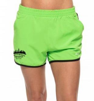 Women's Gym Shorts - Green 'Skyline Design' - SF Marathon
