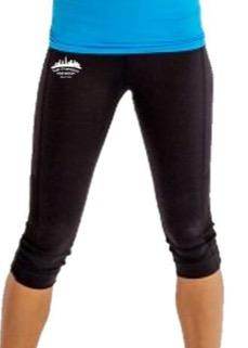 Women's 3/4 Length Tech Capri - Black 'Skyline Design' - SF Marathon