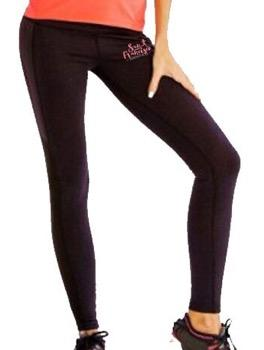Women's Tech Capri - Black 'Script Design' - SF Marathon