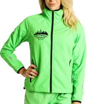 Women's Lightweight Runner's Zip Jacket - Minty 'Skyline Design' - SF Marathon