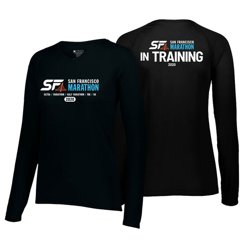 2020 In training Women's SF Marathon Long Sleeve Tech Tee - Black