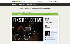 Fiks:Reflective started as a Kickstarter project to make people riding bikes visible at night.