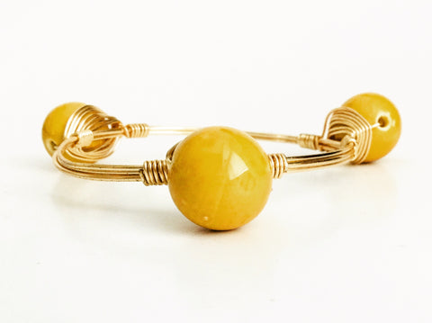 the BOBBY Bangle with Ceramic Bead