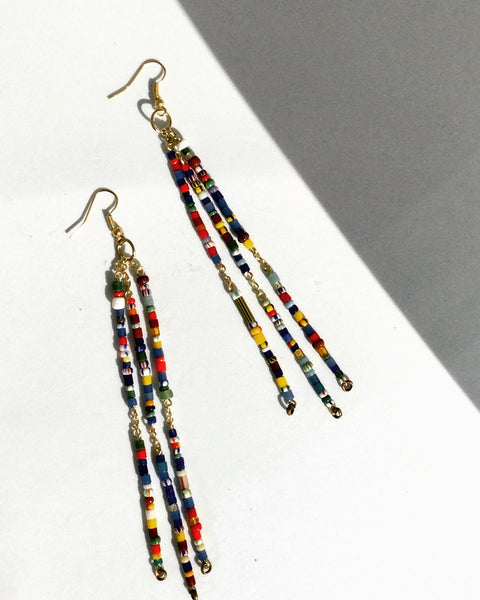 the ATO || Christmas bead dangle earrings
