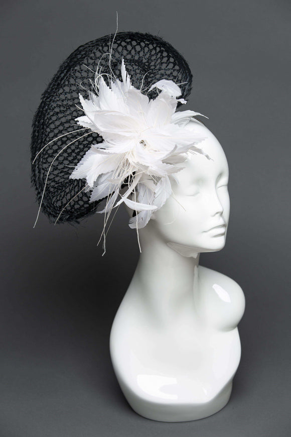 THG2042 - Unique Black and White Kentucky Derby Fascinator