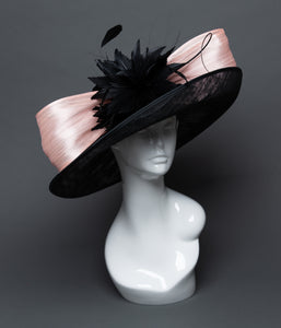 THG2500 - Black and Light Pink Derby Hat