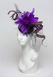 THG2272 - Black and Purple Fascinator
